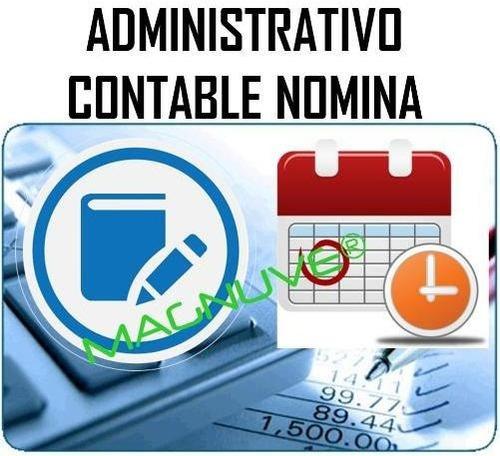 combo sistema administrativo contabilidad nomina original
