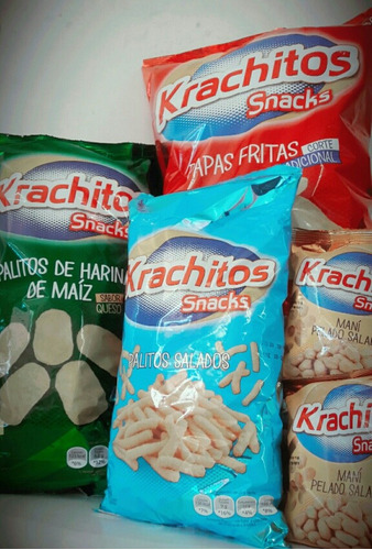 combo snack krachitos  papas palitos chizitos maní