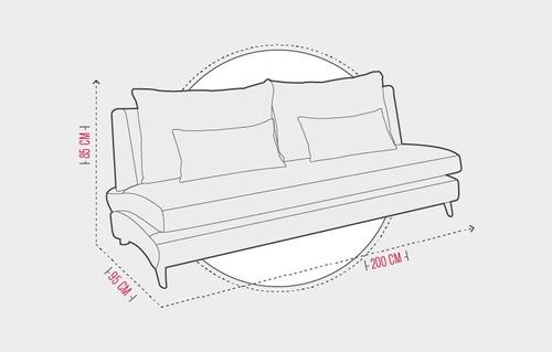 combo sofa de 3 ptos + chaise longue ecocuero y tela. verona