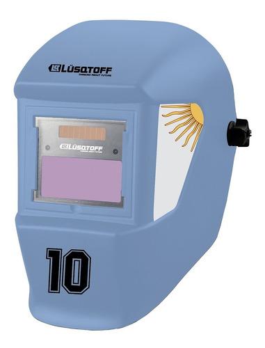 combo soldadora inverter iron-180 + mascara + escuadra mm