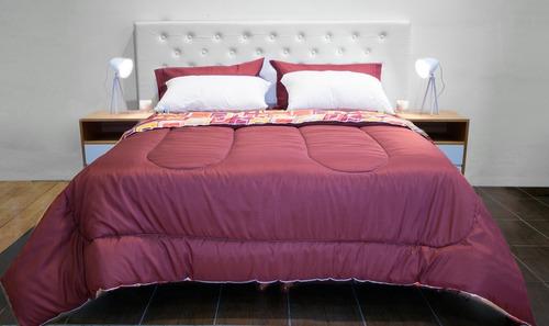 combo somier colchón piero + almohadas + sábanas y acolchado