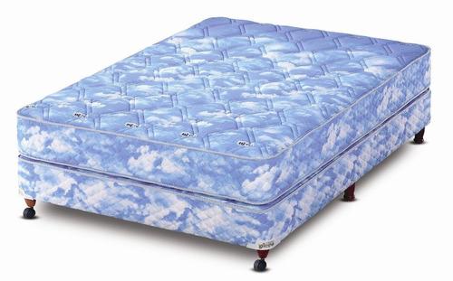 combo sommier piero corona hc 190 x 140 + sábana + almohadas