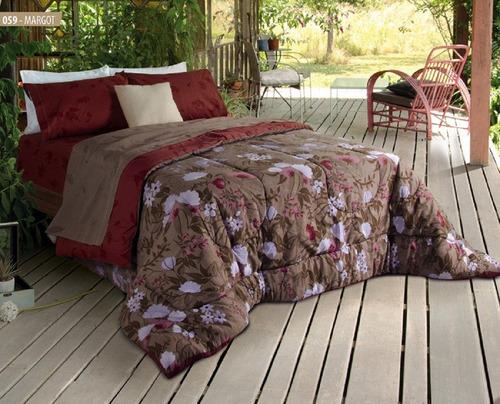 combo sommier y colchón piero almohadas sábanas y acolchado