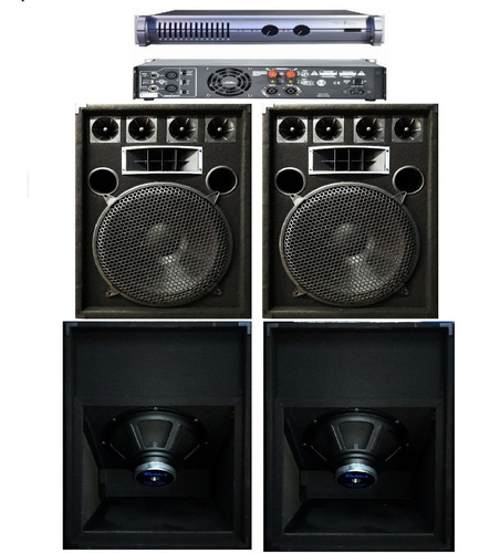 combo sonido profesional 3000w+ potencia 1600w apx800 oferta
