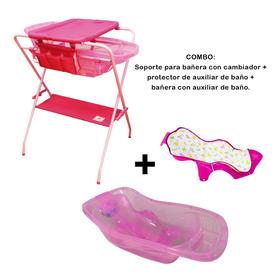 Combo Soporte De Bañera + Protector Del Auxiliar + Bañera