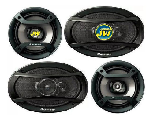 combo stereo pioneer 215 295 usb bluetooth + 6x9 + 6 pulg