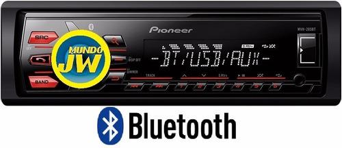 combo stereo pioneer mvh 295 /  bt usb + parlante pioneer 6