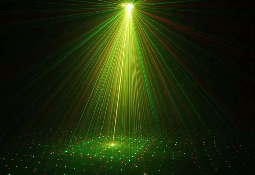 combo super luces dj bola led + laser lluvia + flash led rgb