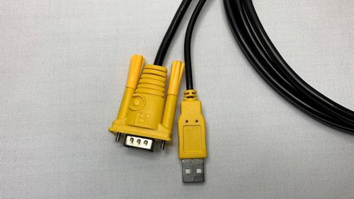 combo: switch kvm usb de 4 puertos + 2 cables kvm 1.5 mts