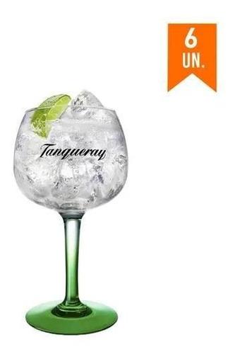combo taças gin tanqueray - 6 unidades