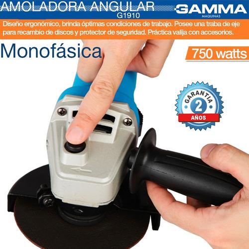 combo taladro percutor 650w + amoladora 750w gamma g1900