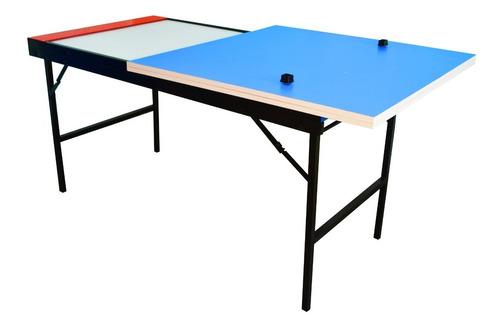 combo tapa ping pong plegable + mesa tejo aire metal madera