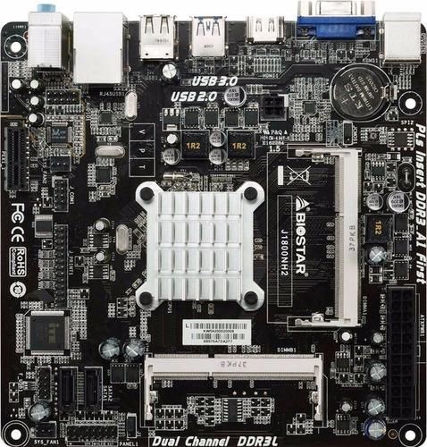 combo tarjeta madre biostar con procesador y memoria