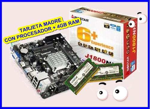 combo tarjeta madre con procesador + 4gb (2x2gb) ram tienda