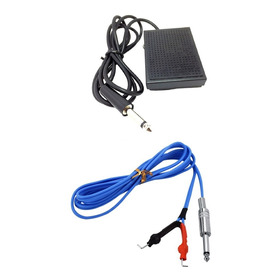 Combo Tattoo: Pedal + Cable Clip Cord Standard Siliconado