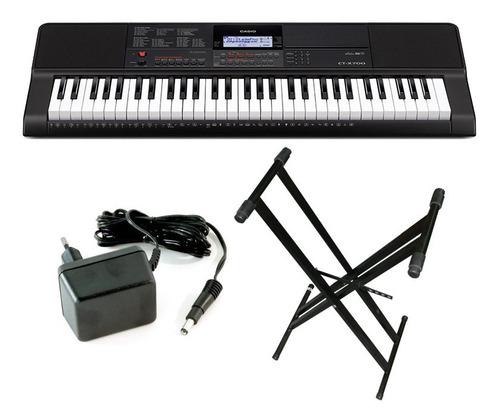 combo teclado casio ctx700 5 octavas + soporte + fuente