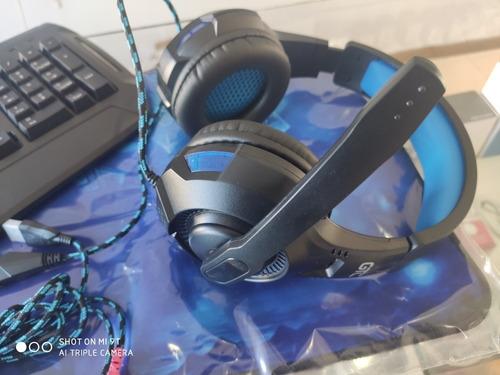 combo teclado, mouse, auriculares y pad