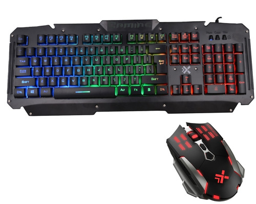 combo teclado mouse gamer dynacom dy-009988 pc