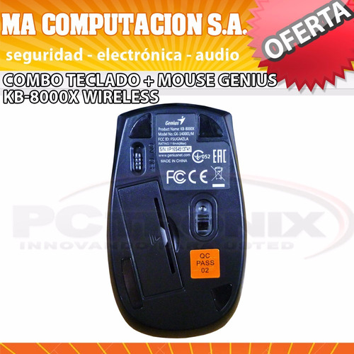 combo teclado+mouse genius kb-8000x wireless smart tv pc
