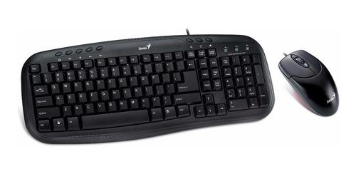 combo teclado + mouse genius km200 usb cable
