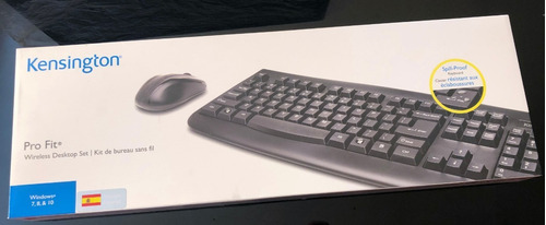 combo teclado + mouse inalambrico kensington pro fit