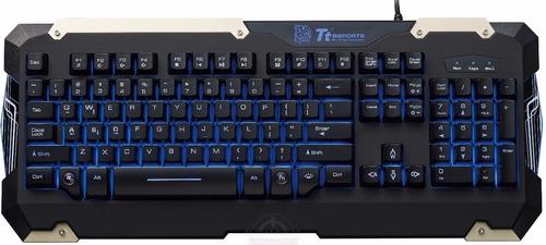 combo teclado + mouse thermaltake gamer commander - smal lan