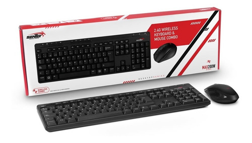 combo teclado + mouse wireless sentey max 200w 2.4ghz