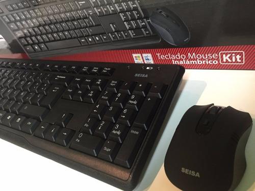 combo teclado multimedia y mouse inalambrico seisa