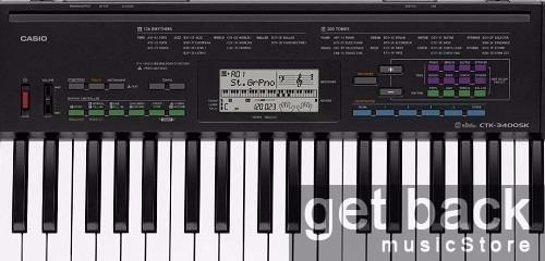 combo teclado organo casio ctk 3400 funda + soporte + fuente