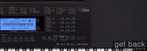 combo teclado organo casio ctk 5200 funda + soporte + fuente