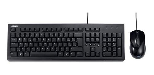 combo teclado y mouse alámbrico asus u2000