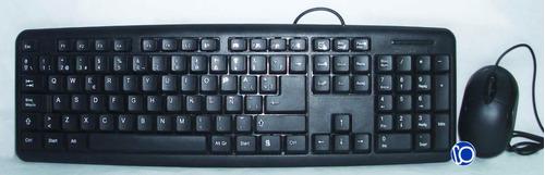 combo teclado y mouse alambrico usb optico español pc laptop