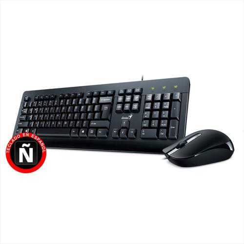 combo teclado y mouse ergonómico genius km-160, conexión usb