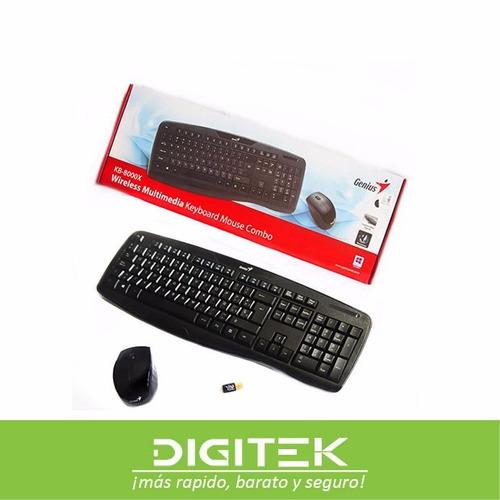combo teclado y mouse genius inalambrico usb
