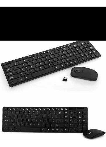 combo teclado y mouse inalámbrico