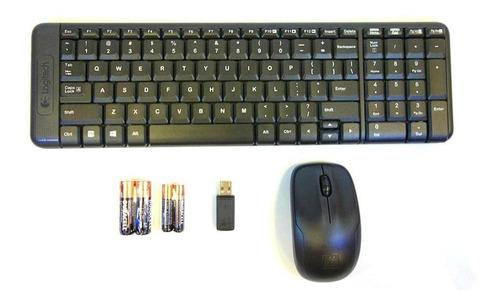 combo teclado y mouse logitech mk220 inalambricos