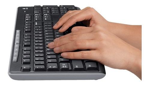 combo teclado y mouse logitech mk270 inalambrico