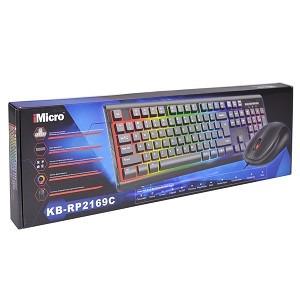 combo teclado y mouse multicolor imicro