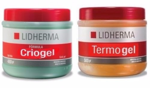 combo termogel+criogel reductores 500grs.lidherma