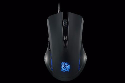 combo thermaltake commander gamer azul teclado y mouse
