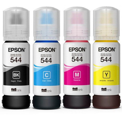 combo tinta original epson 4x65ml t544 l3110 l3150 vto. 2021