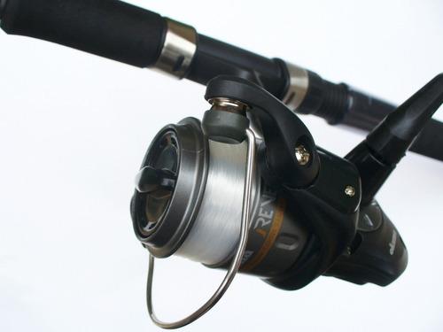 combo todo p pescar okuma 7 pies caña carrete +50 accesorios