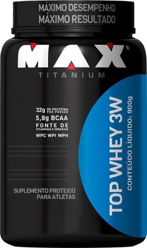 combo top whey 3w + bcaa 2400 60 caps - max titanium