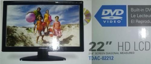 combo tv dvd hdtv 22 lcd monitor sintonizador digi polaroid