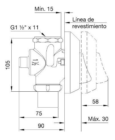 combo valvula descarga inodoro fv 368.01 + tecla 368.02 c
