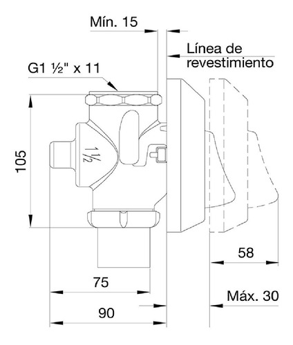 combo valvula inodoro fv 368.01 + tecla fv dual 368.04
