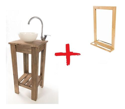 combo: vanitory 40cm bacha blanca espejo repisa griferia!!