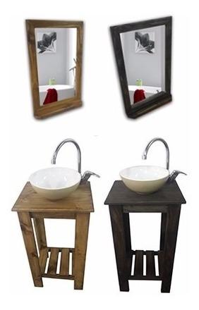combo: vanitory 40cm bacha sofy espejo con repisa griferia !
