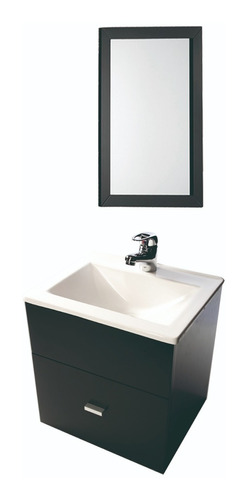 combo vanitory 40cm con espejo 60x40cm