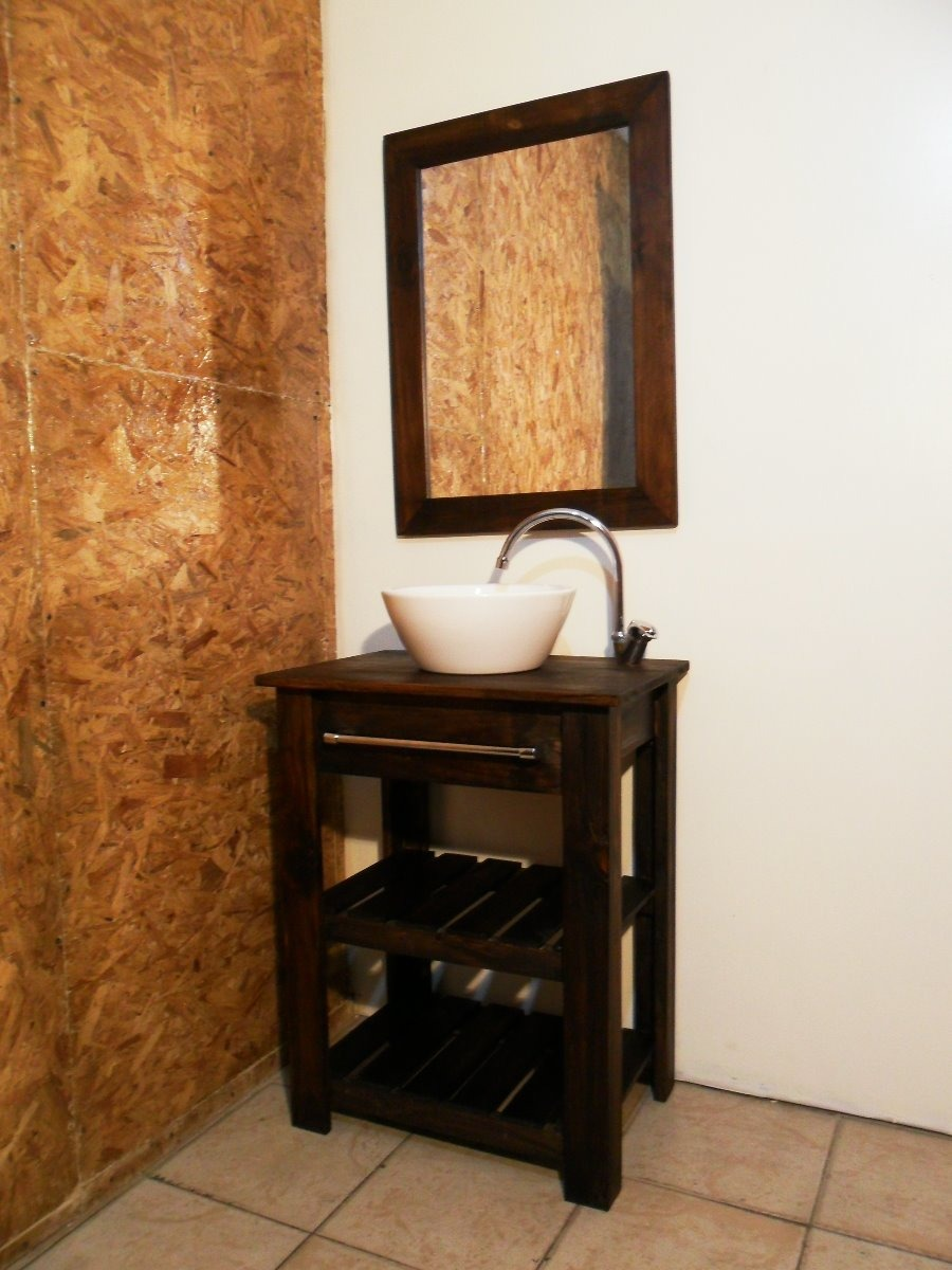 Combo Vanitory 52cm Bacha Loza Premium Muebles Cristoff  # Muebles Sunchales
